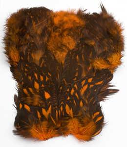 Bild på Keough Softhackle Patch Spotted/Badger Orange