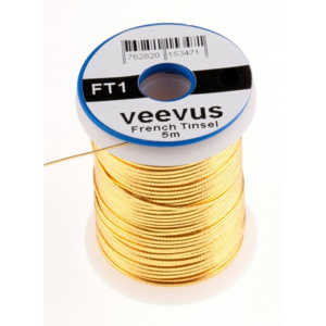 Bild på Veevus French Tinsel Oval Gold Small