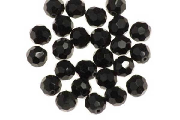 Bild på Darts Glass Beads Black 8mm (7-pack)