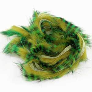 Bild på Tiger Barred Rabbit Strips Green/Brown over Olive