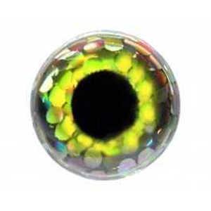 Bild på FutureFly 3D Epoxy Eyes 6mm Holo Yellow