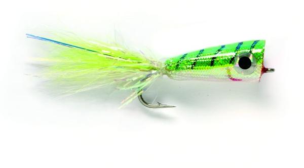 Bild på Mylar Popper (Chartreuse/White) Stl.2/0