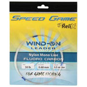 Bild på Relix Speed Game Wind-on Leader - Fluorocarbon 50lb / 0.68mm (4,5 meter)