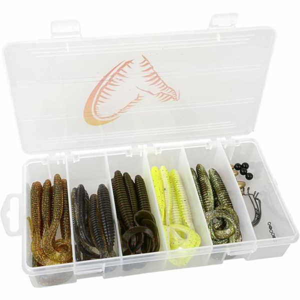 Bild på Savage Gear Rib Worm Kit 30+17pcs