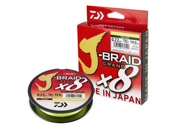 Bild på Daiwa J-Braid Grand X8 Yellow 135m