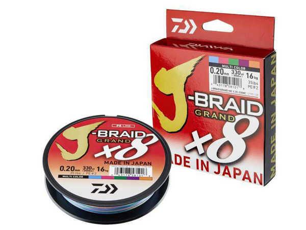Bild på Daiwa J-Braid Grand X8 Multicolor 300m