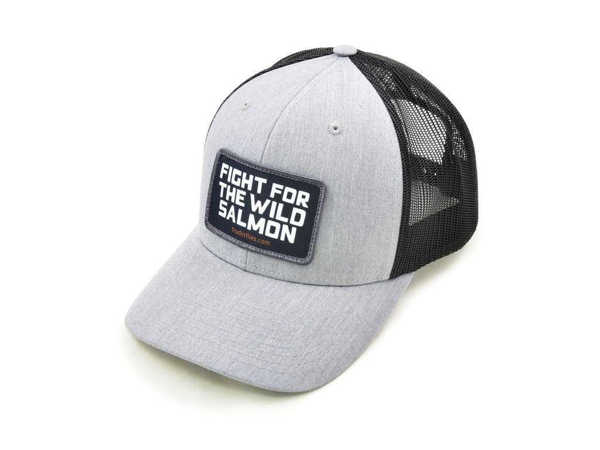 Bild på Frödin Light Grey/Black 'Wild Salmon' Trucker Hat