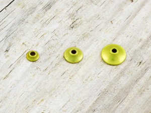 Bild på FITS Tungsten Turbo Cones (10-pack) Yellow Metallic - Small