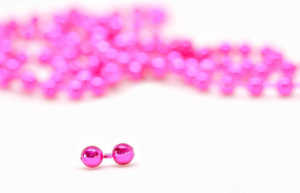 Bild på Bead Chain Eyes Metallic Pink 3,2mm