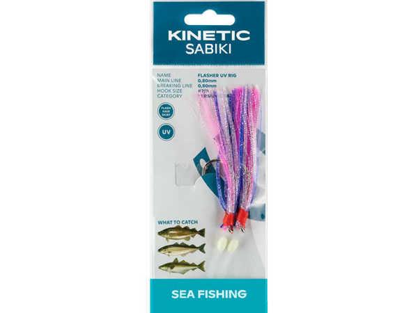 Bild på Kinetic Sabiki Flasher UV Purple/Pink/Silver #7/0