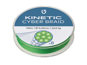 Bild på Kinetic Cyber Braid X8 Fluo Green 150m 0,26mm / 20,6kg