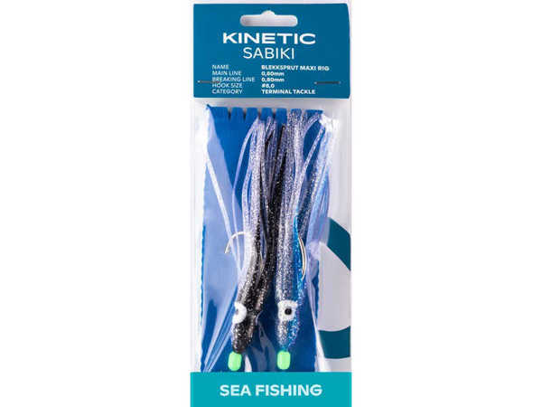 Bild på Kinetic Sabiki Blekksprut Maxi Blue & Black Glitter #8/0