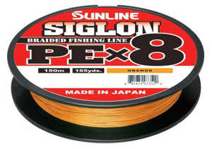 Bild på Sunline Siglon PE X8 Braid Orange 150m 0,171mm / 7,7kg