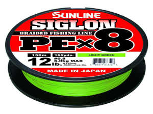 Bild på Sunline Siglon PE X8 Braid Light Green 150m 0,187mm / 9,2kg
