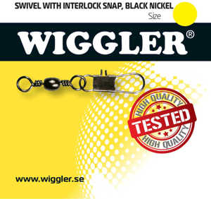 Bild på Wiggler Swivel Interlock Snap Black Nickel (2-10 pack) #5/0 / 53kg (2 pack)