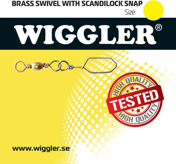 Bild på Wiggler Brass Swivel Scandilock Snap (2-10 pack)