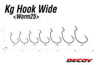 Bild på Decoy KG Hook Wide Worm25 (4-8 pack)