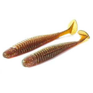 """Bild på Noike Wobble Shad 4"""" 10cm 5g (6 pack) Motoroil Gold UV"""