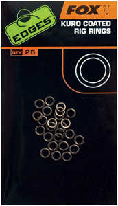 Bild på Fox Edges Kuro Coated Rig Rings (25 pack) Medium (3,2mm)