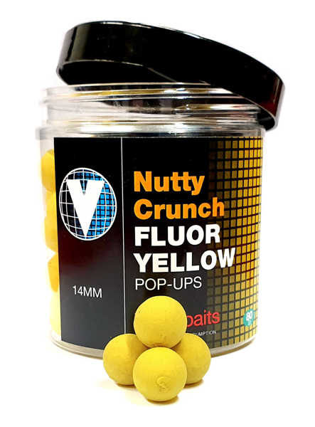Bild på Vitalbaits Pop-Ups Nutty Crunch Fluor Yellow 14mm