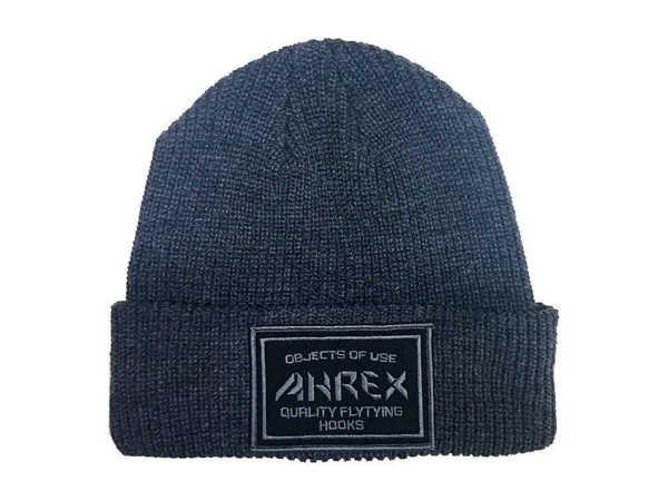 Bild på Ahrex Ribbed Knit Woven Patch Beanie Dark Grey