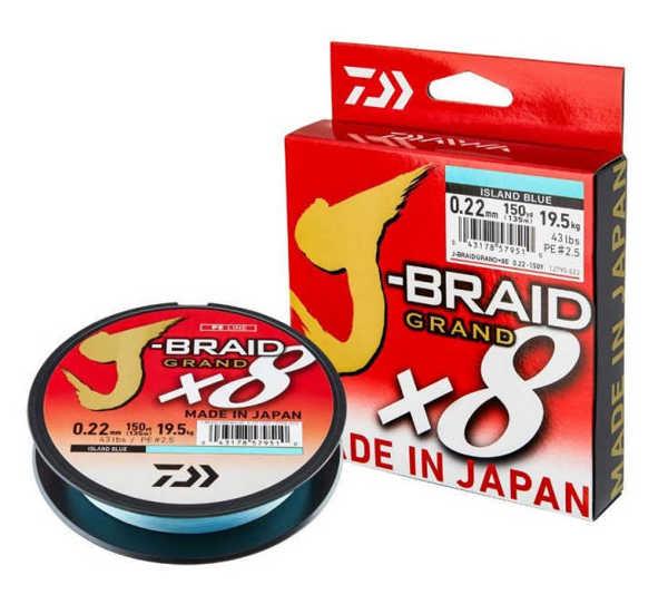 Bild på Daiwa J-Braid Grand X8 Island Blue 135m