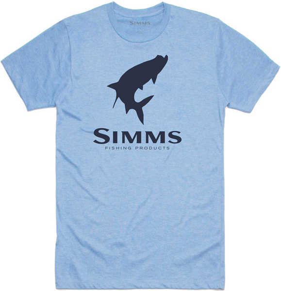 Bild på Simms Tarpon Logo T-Shirt Light Blue Heather