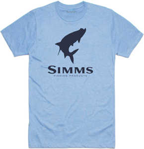 Bild på Simms Tarpon Logo T-Shirt Light Blue Heather Small