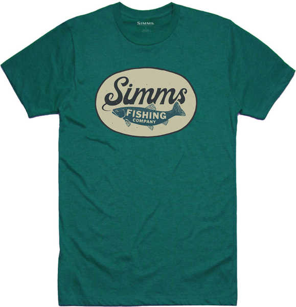 Bild på Simms Trout Wander T-Shirt Dark Teal Heather