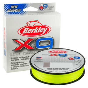 Bild på Berkley X9 Flame Green 150m 0,12mm / 12,1kg