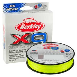 Bild på Berkley X9 Flame Green 150m 0,30mm / 31,5kg
