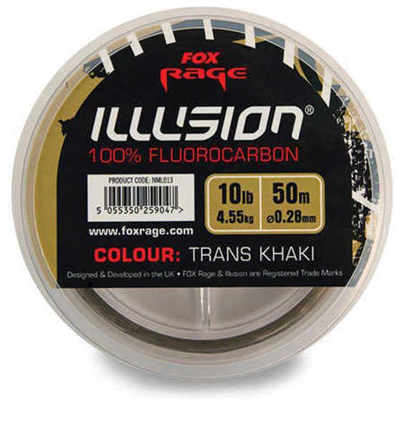 Bild på Fox Rage Illusion 100% Fluorocarbon Trans Khaki 50m