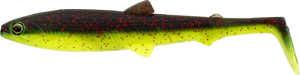 Bild på Westin BullTeez Shadtail 9,5cm Black/Chartreuse