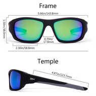 Bild på Bassdash V01 Polarized Sunglasses Matte Black Grey/Green Mirror